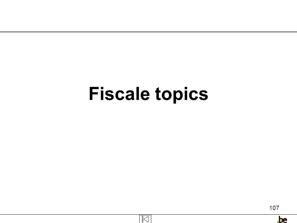Fiscale topics