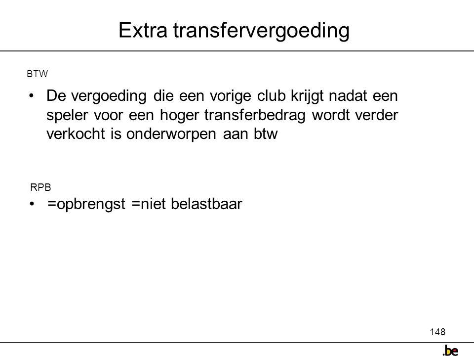 Extra transfervergoeding