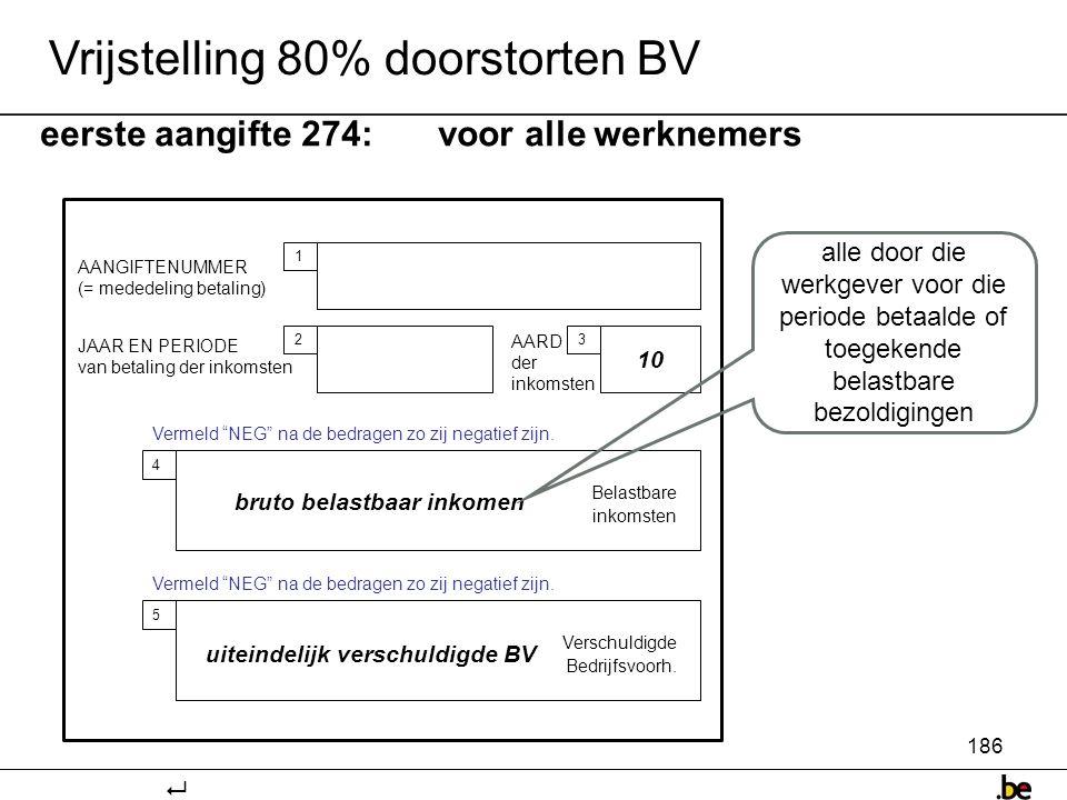 bruto belastbaar inkomen uiteindelijk verschuldigde BV