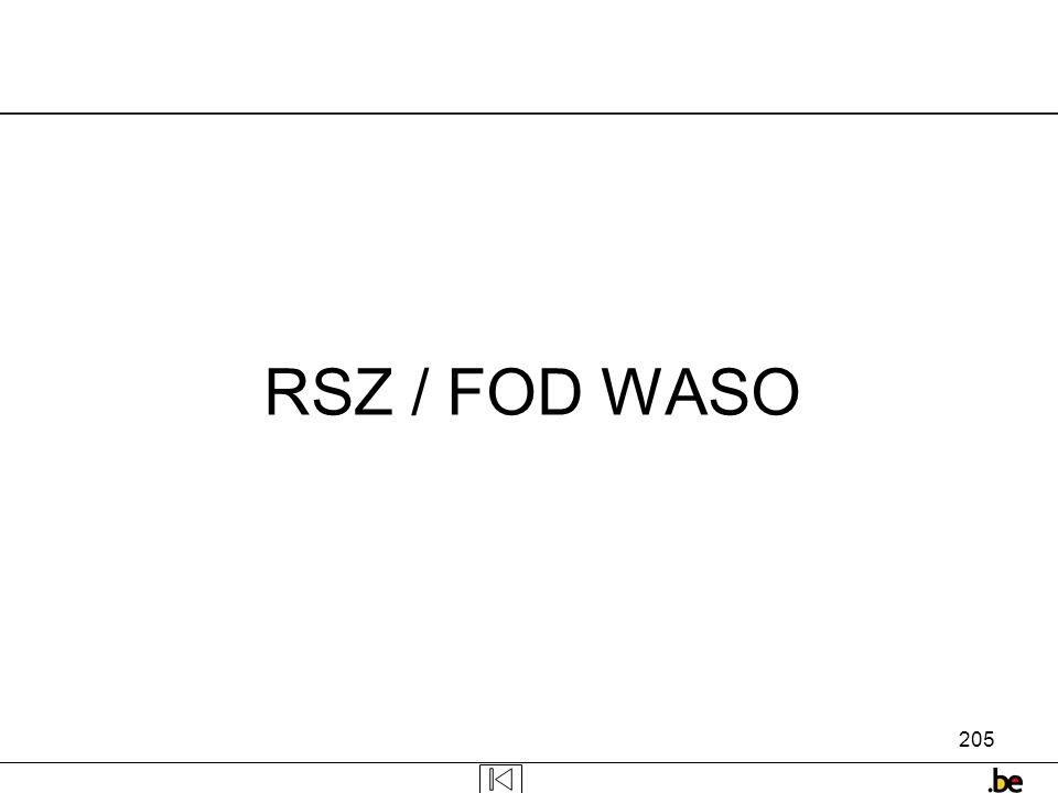 RSZ / FOD WASO