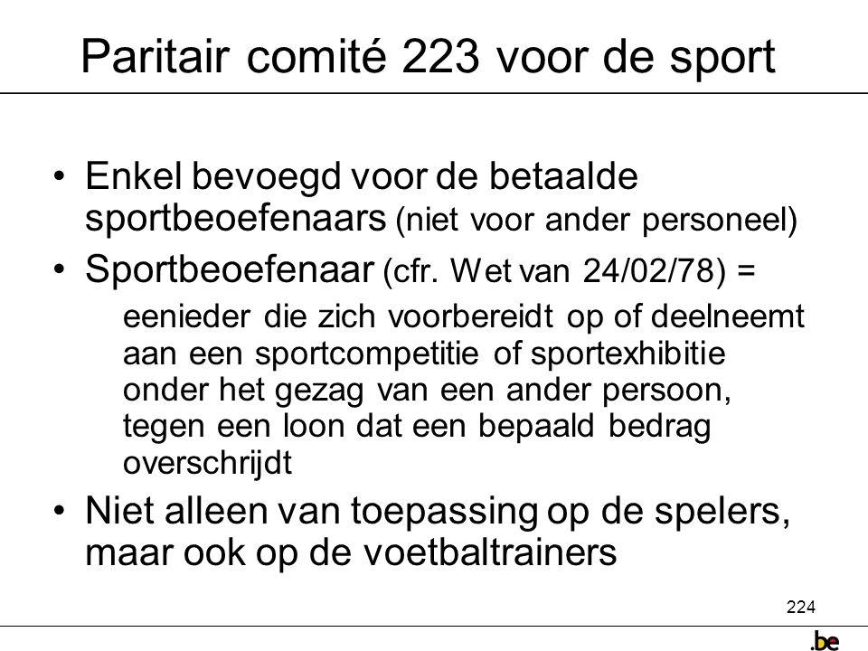 Paritair comité 223 voor de sport
