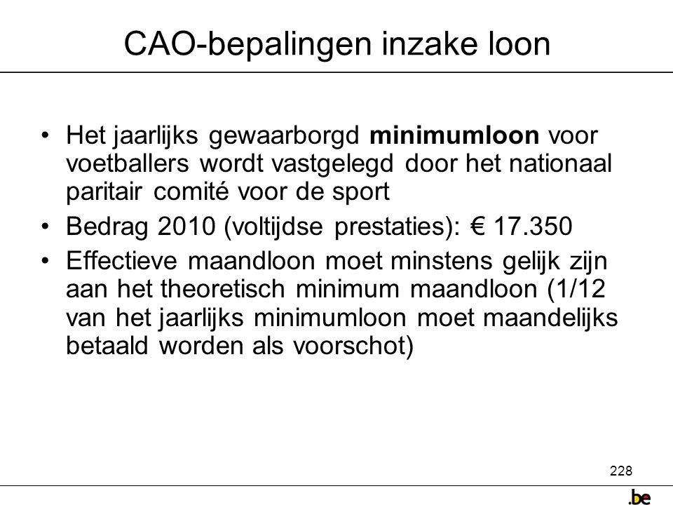 CAO-bepalingen inzake loon