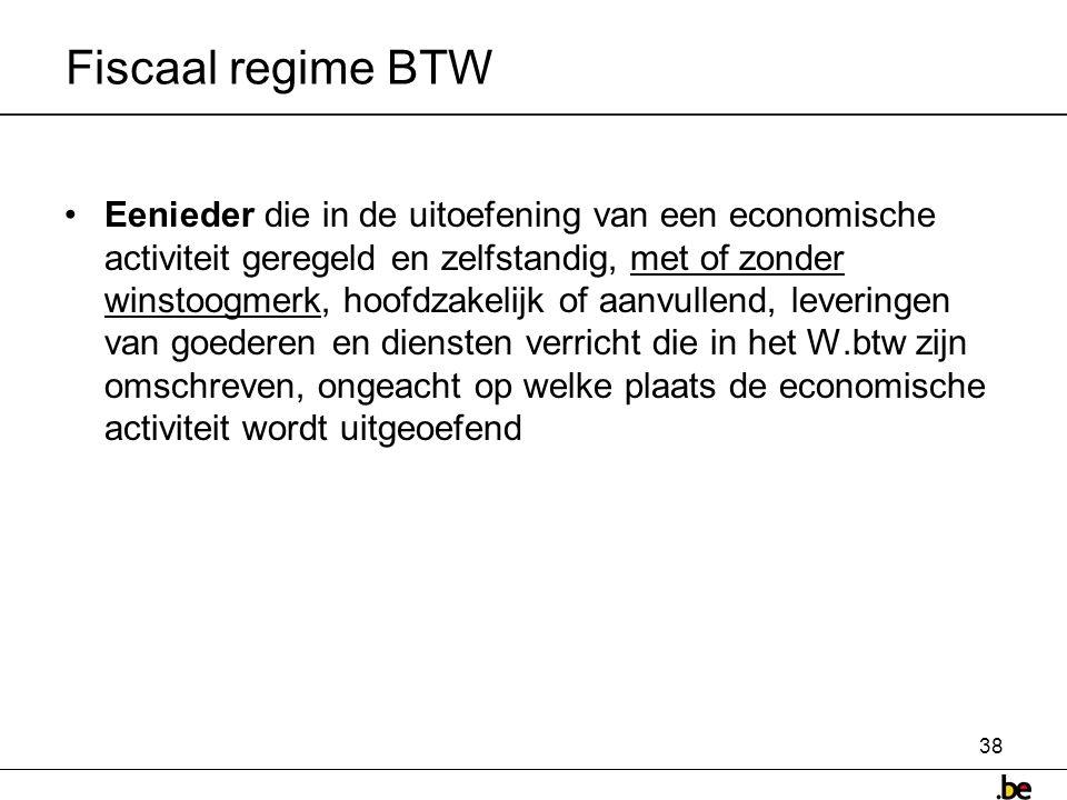 Fiscaal regime BTW