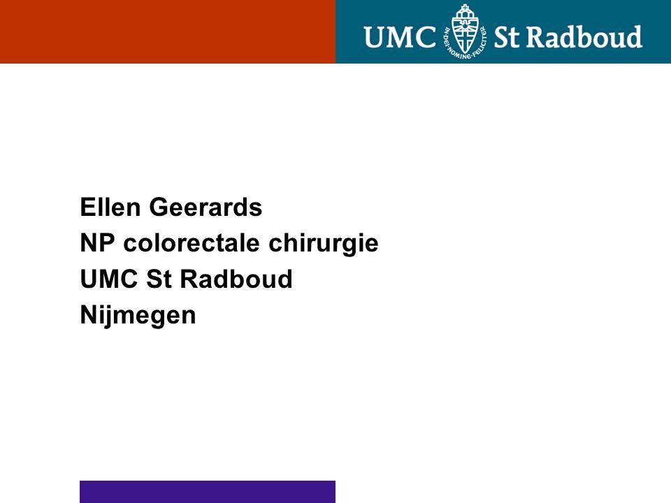 Ellen Geerards NP colorectale chirurgie UMC St Radboud Nijmegen