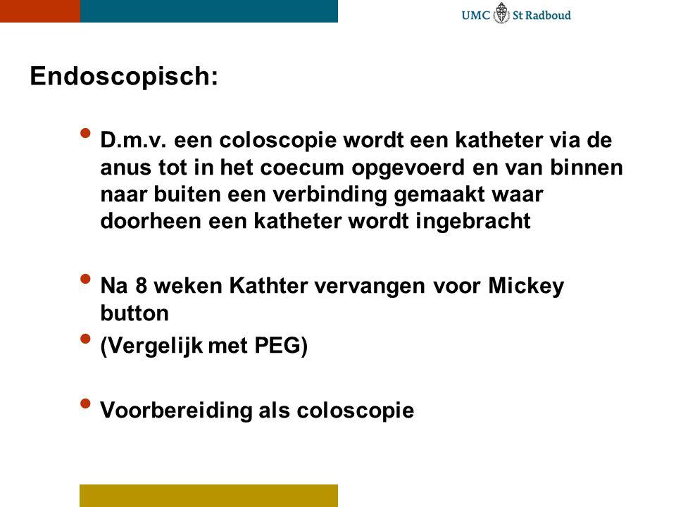 Endoscopisch: