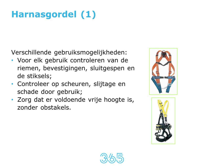 Harnasgordel (1) Verschillende gebruiksmogelijkheden: