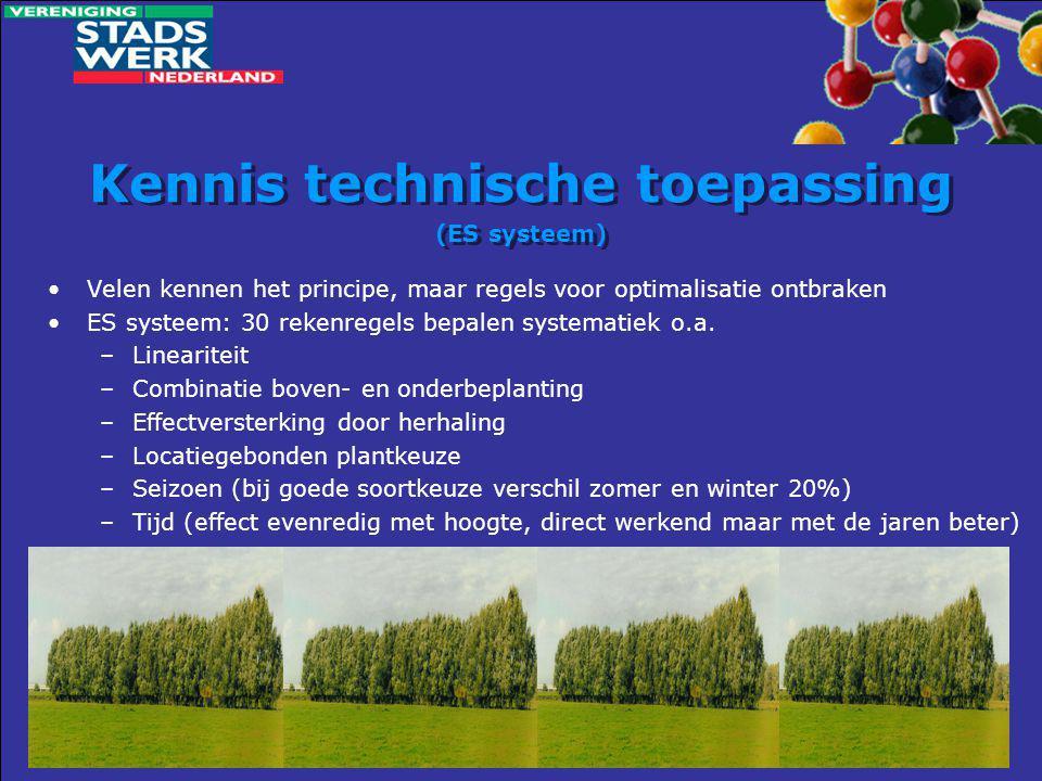 Kennis technische toepassing (ES systeem)