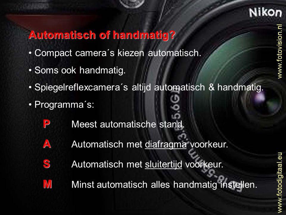 Automatisch of handmatig