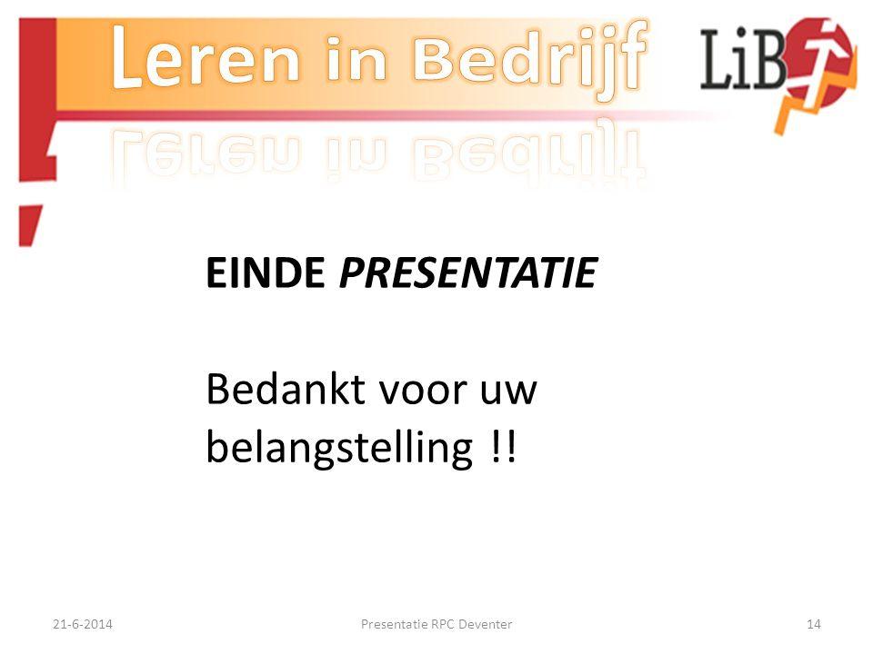 Presentatie RPC Deventer