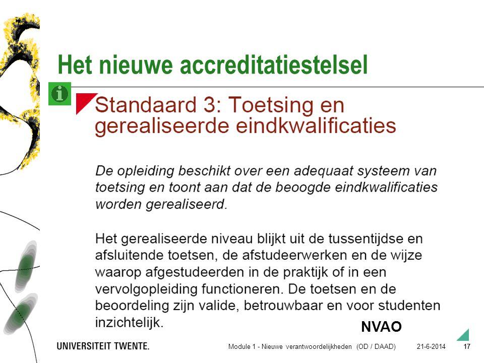 Het nieuwe accreditatiestelsel