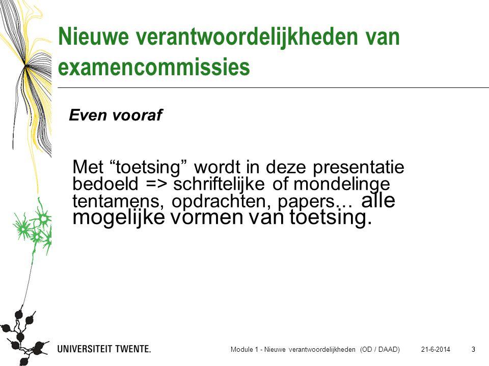 Nieuwe verantwoordelijkheden van examencommissies