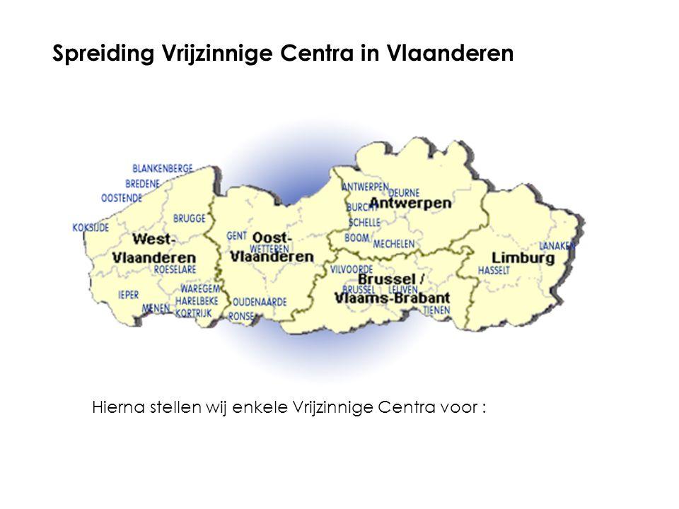 Spreiding Vrijzinnige Centra in Vlaanderen