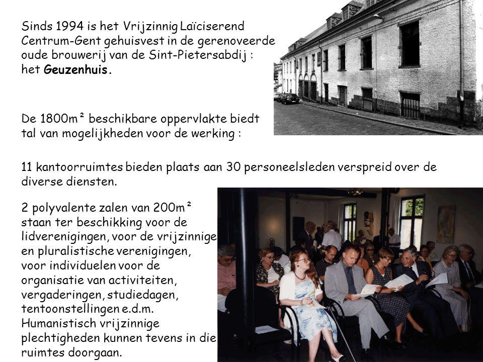 Sinds 1994 is het Vrijzinnig Laïciserend Centrum-Gent gehuisvest in de gerenoveerde oude brouwerij van de Sint-Pietersabdij : het Geuzenhuis.