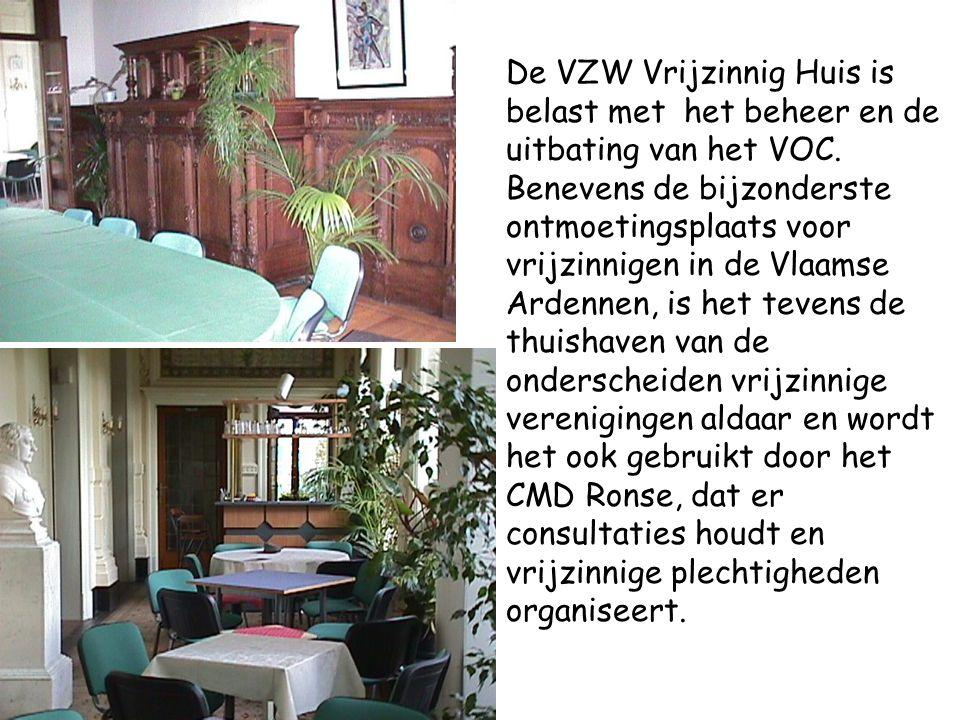 De VZW Vrijzinnig Huis is belast met het beheer en de uitbating van het VOC.