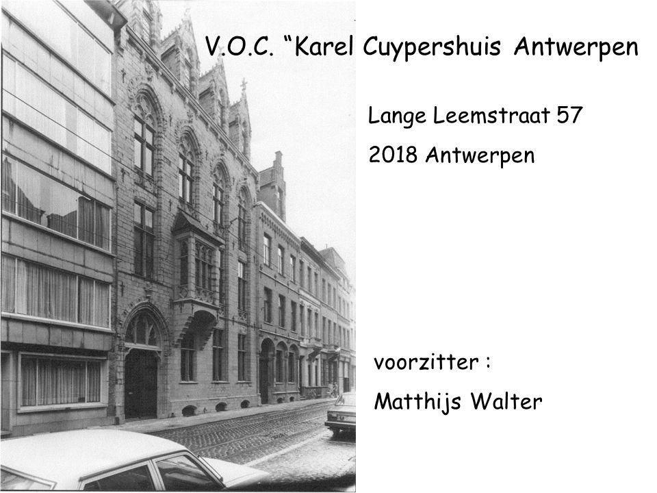 V.O.C. Karel Cuypershuis Antwerpen