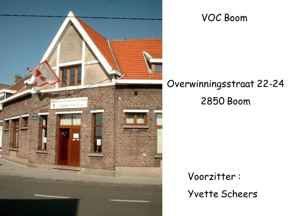VOC Boom Overwinningsstraat 22-24 2850 Boom Voorzitter : Yvette Scheers