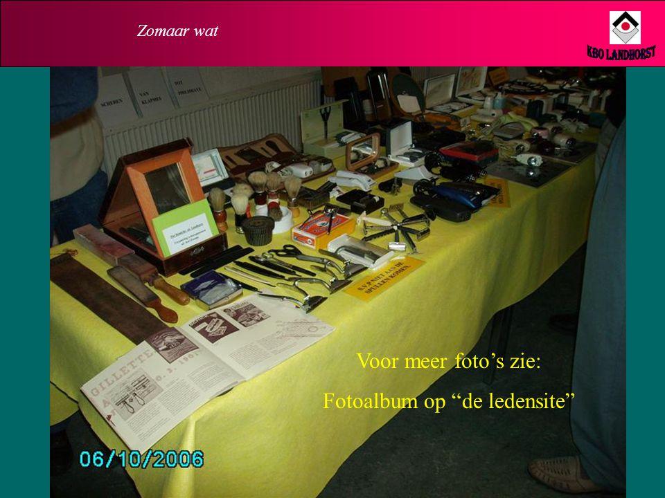 Fotoalbum op de ledensite