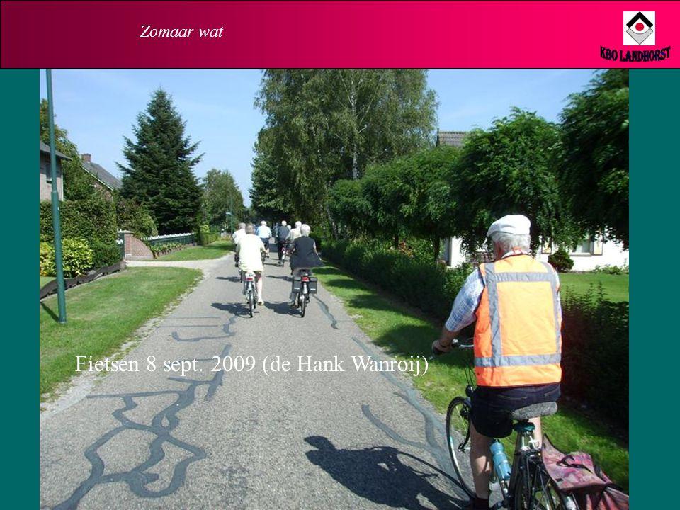 Zomaar wat KBO Landhorst Fietsen 8 sept. 2009 (de Hank Wanroij)