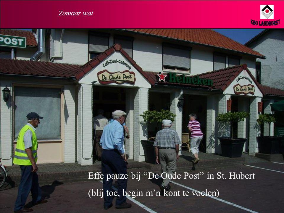 KBO Landhorst Effe pauze bij De Oude Post in St. Hubert