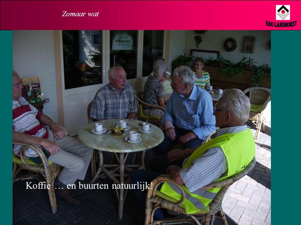Zomaar wat KBO Landhorst Koffie … en buurten natuurlijk!