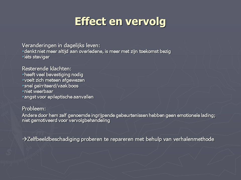 Effect en vervolg Veranderingen in dagelijks leven: