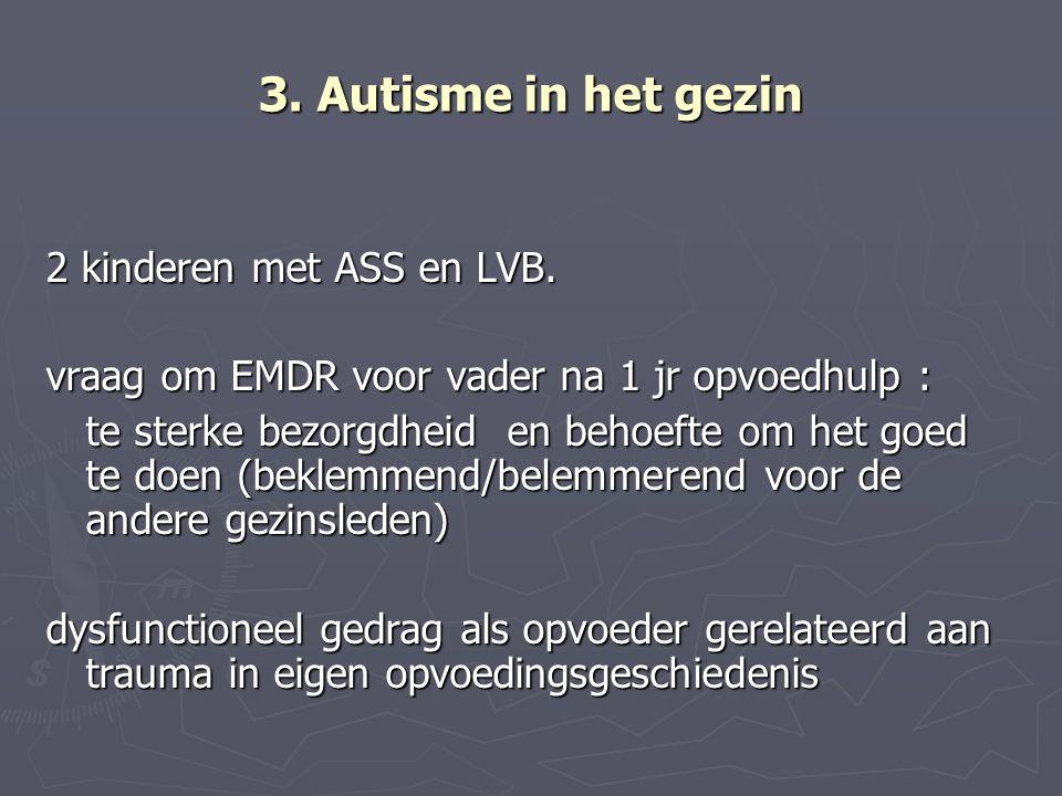 3. Autisme in het gezin 2 kinderen met ASS en LVB.
