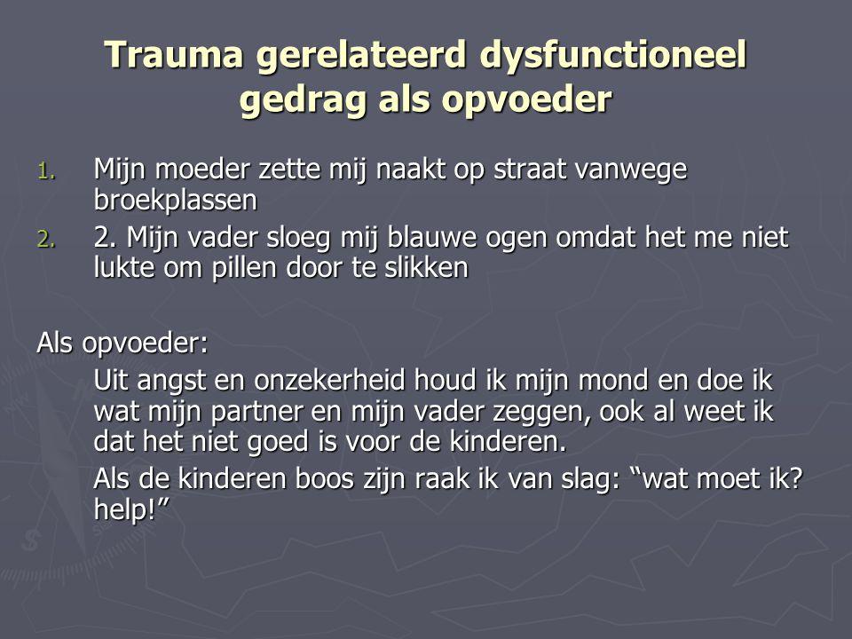 Trauma gerelateerd dysfunctioneel gedrag als opvoeder