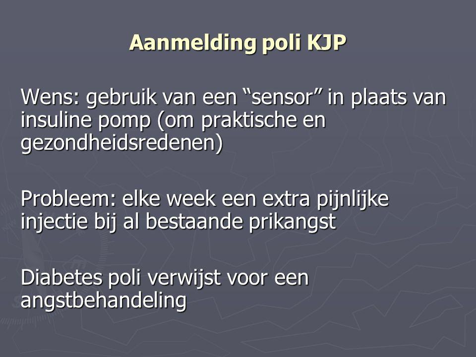 Aanmelding poli KJP Wens: gebruik van een sensor in plaats van insuline pomp (om praktische en gezondheidsredenen)