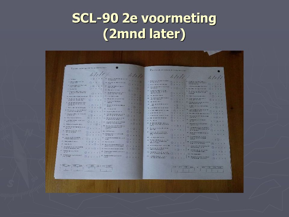 SCL-90 2e voormeting (2mnd later)