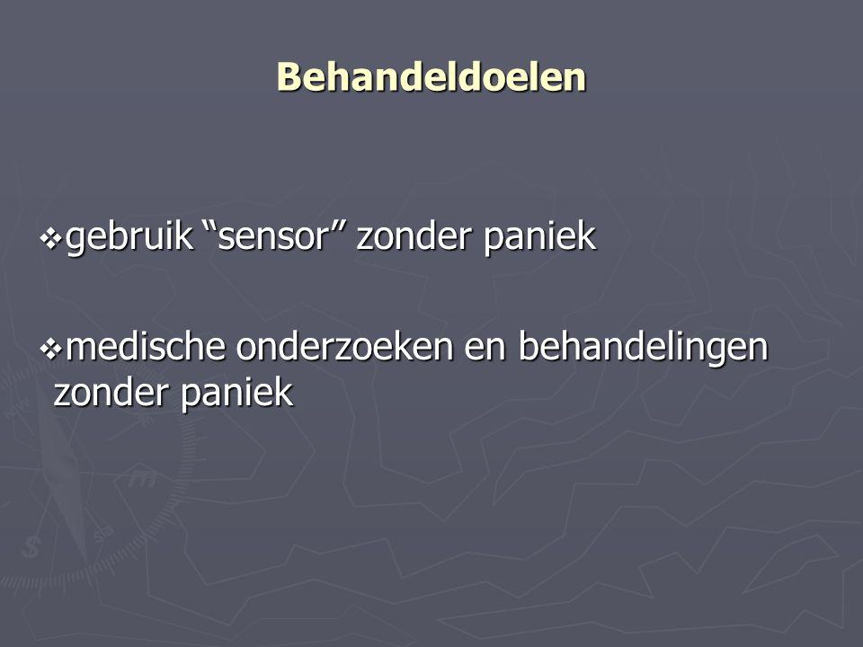 Behandeldoelen gebruik sensor zonder paniek medische onderzoeken en behandelingen zonder paniek