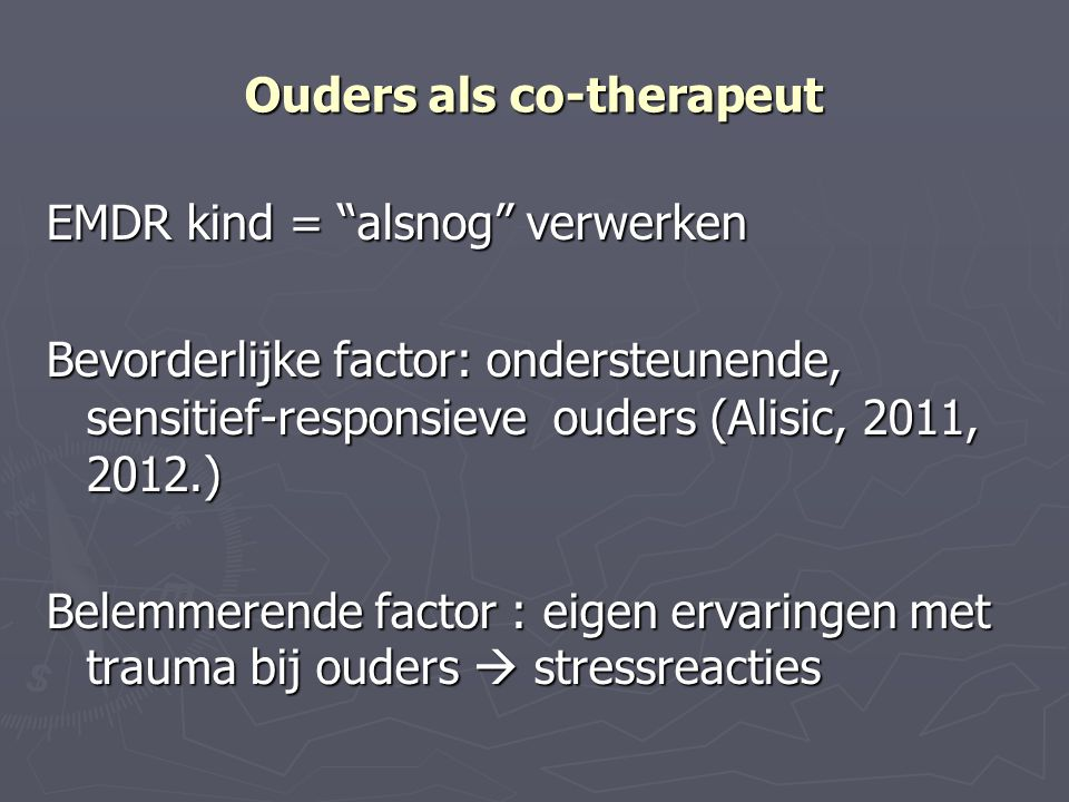 Ouders als co-therapeut