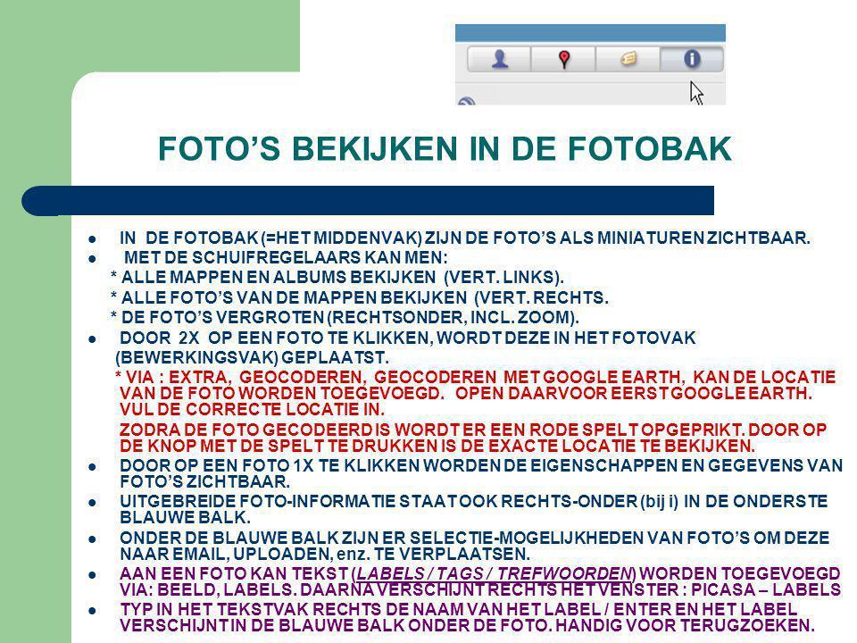 FOTO'S BEKIJKEN IN DE FOTOBAK