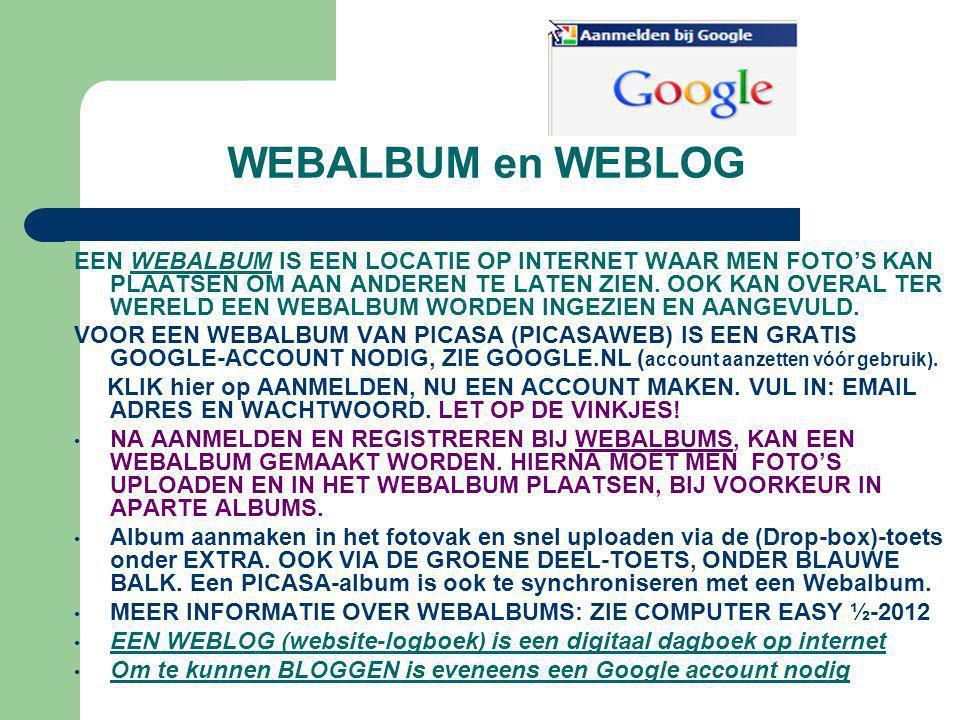 WEBALBUM en WEBLOG