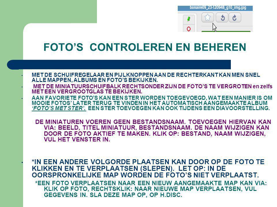 FOTO'S CONTROLEREN EN BEHEREN