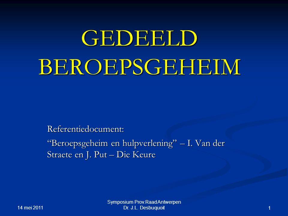GEDEELD BEROEPSGEHEIM