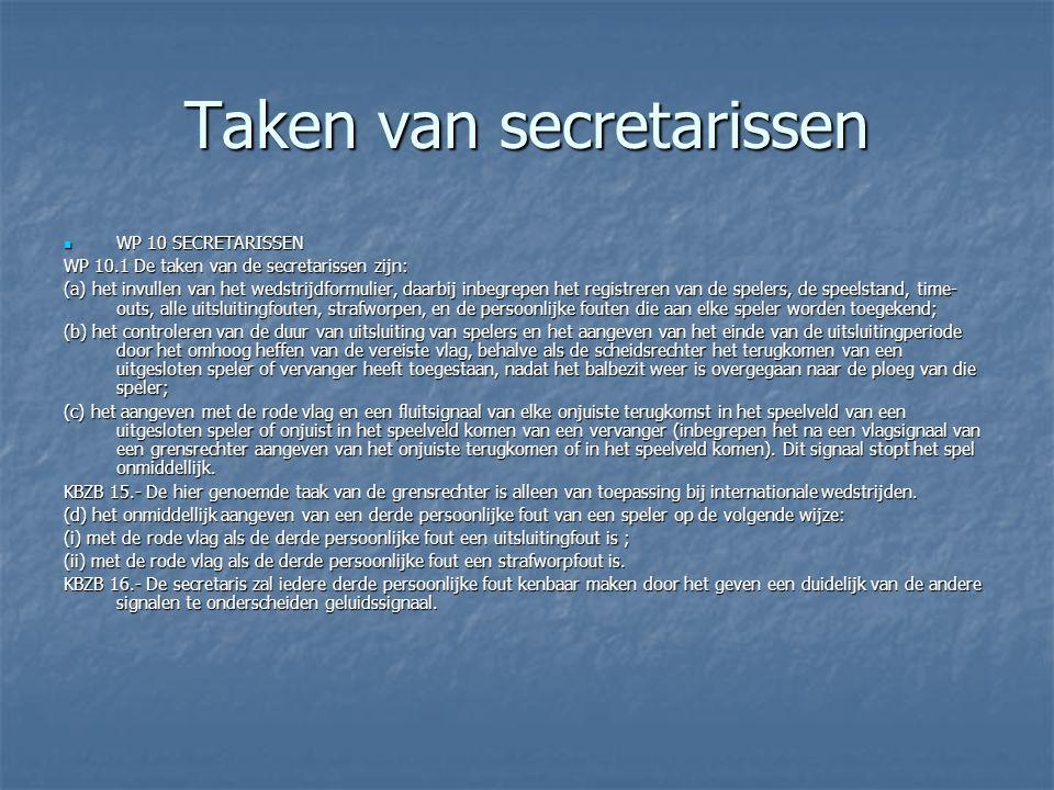 Taken van secretarissen