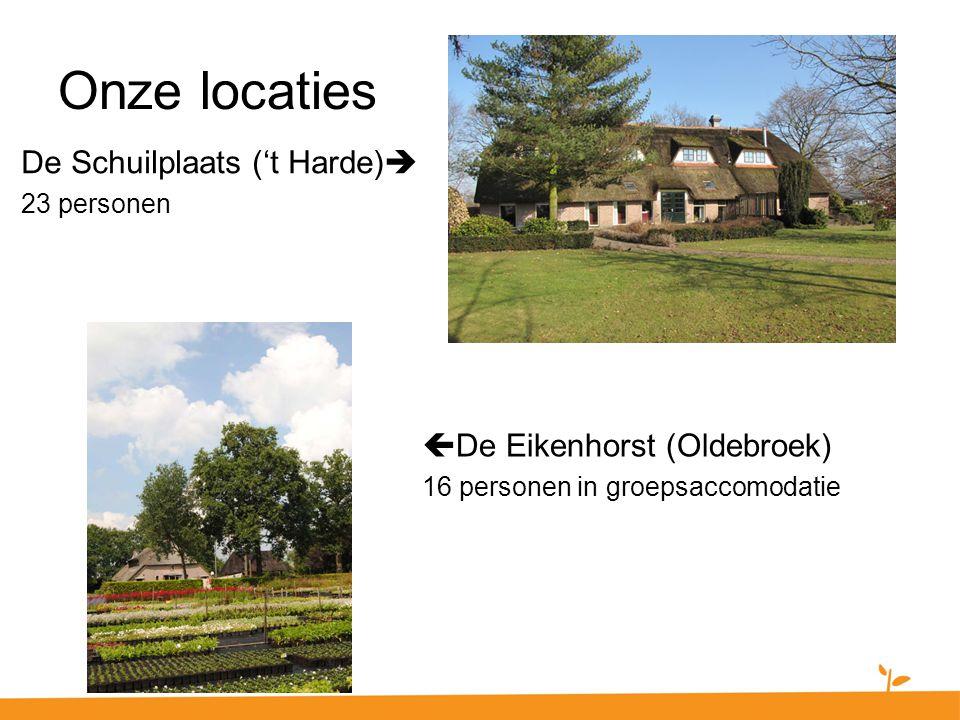 Onze locaties De Schuilplaats ('t Harde) De Eikenhorst (Oldebroek)