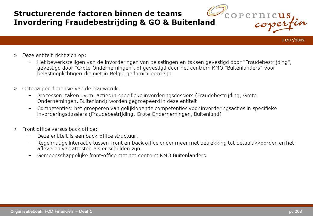 Structurerende factoren binnen de teams Invordering Fraudebestrijding & GO & Buitenland