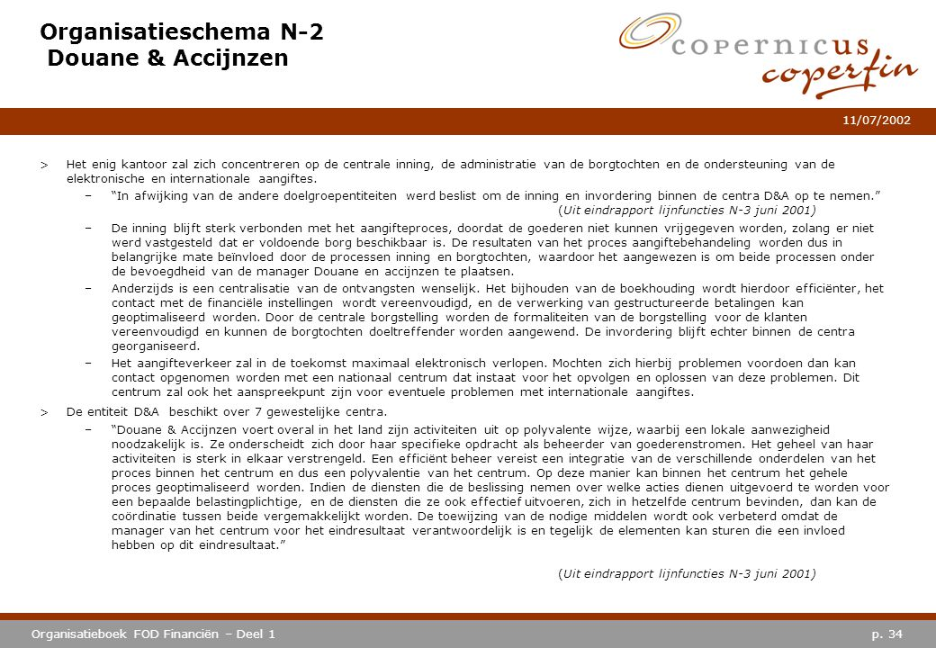 Organisatieschema N-2 Douane & Accijnzen