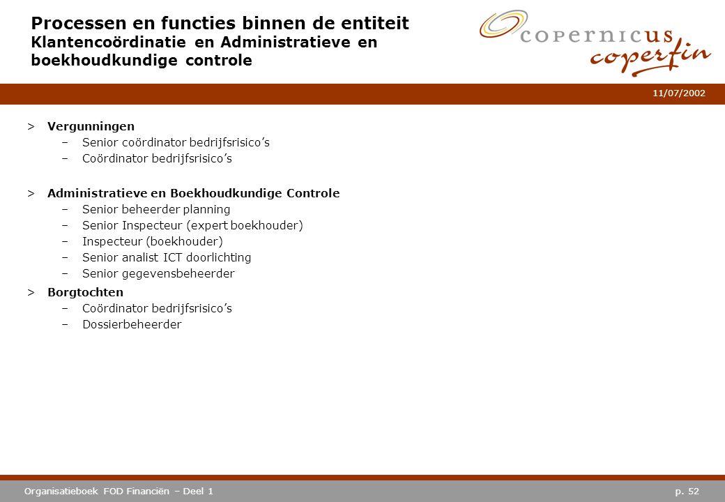 Processen en functies binnen de entiteit Klantencoördinatie en Administratieve en boekhoudkundige controle