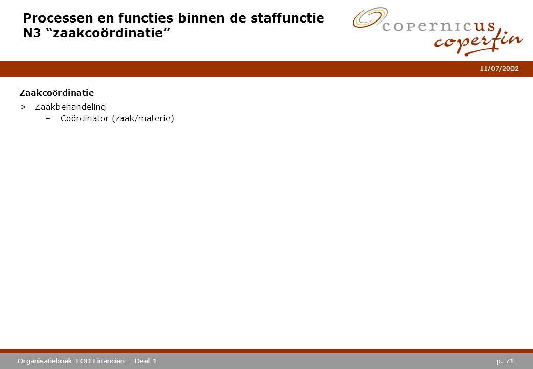 Processen en functies binnen de staffunctie N3 zaakcoördinatie