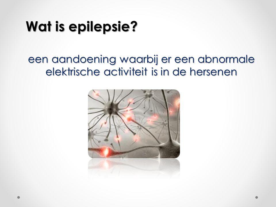 Wat is epilepsie een aandoening waarbij er een abnormale elektrische activiteit is in de hersenen
