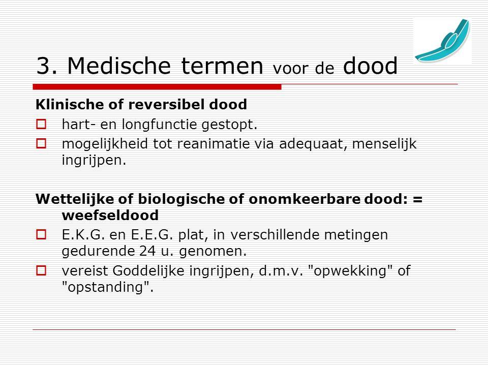 3. Medische termen voor de dood