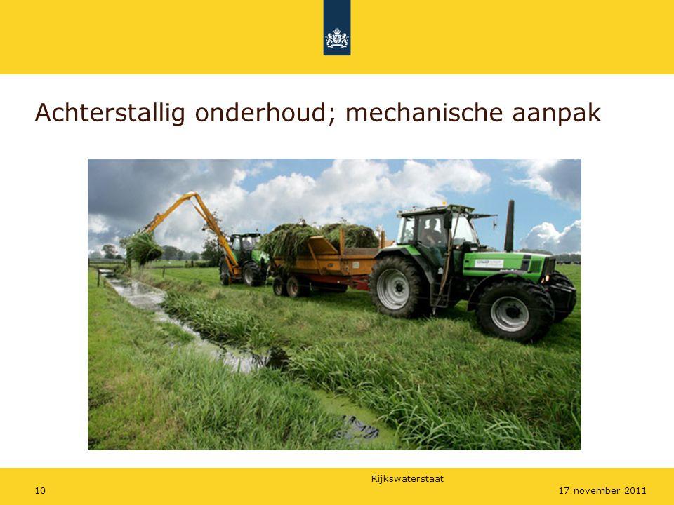 Achterstallig onderhoud; mechanische aanpak