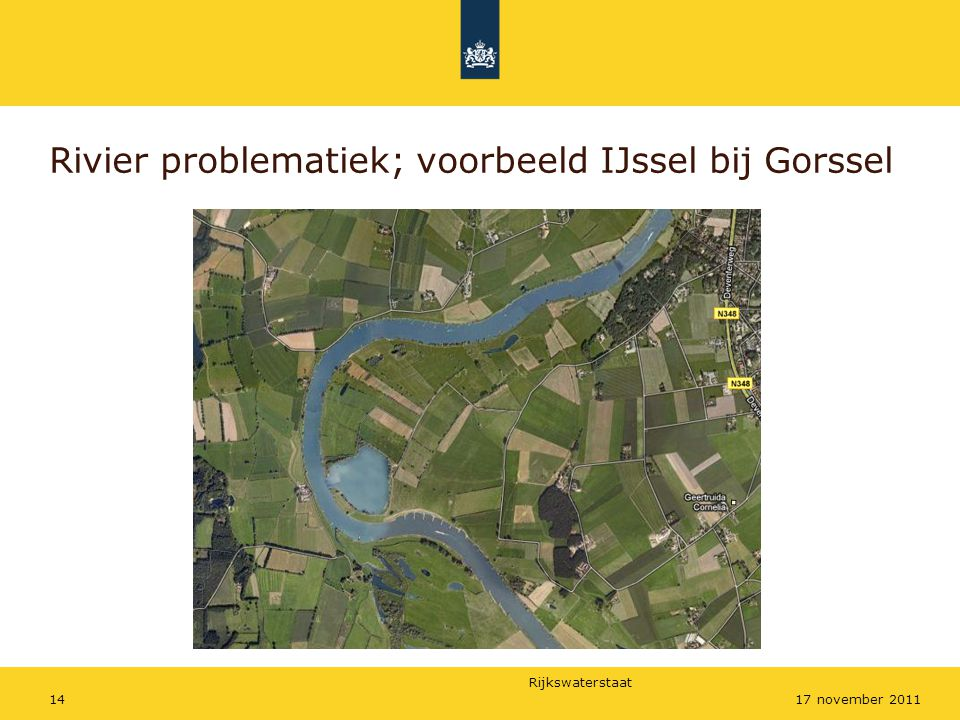 Rivier problematiek; voorbeeld IJssel bij Gorssel