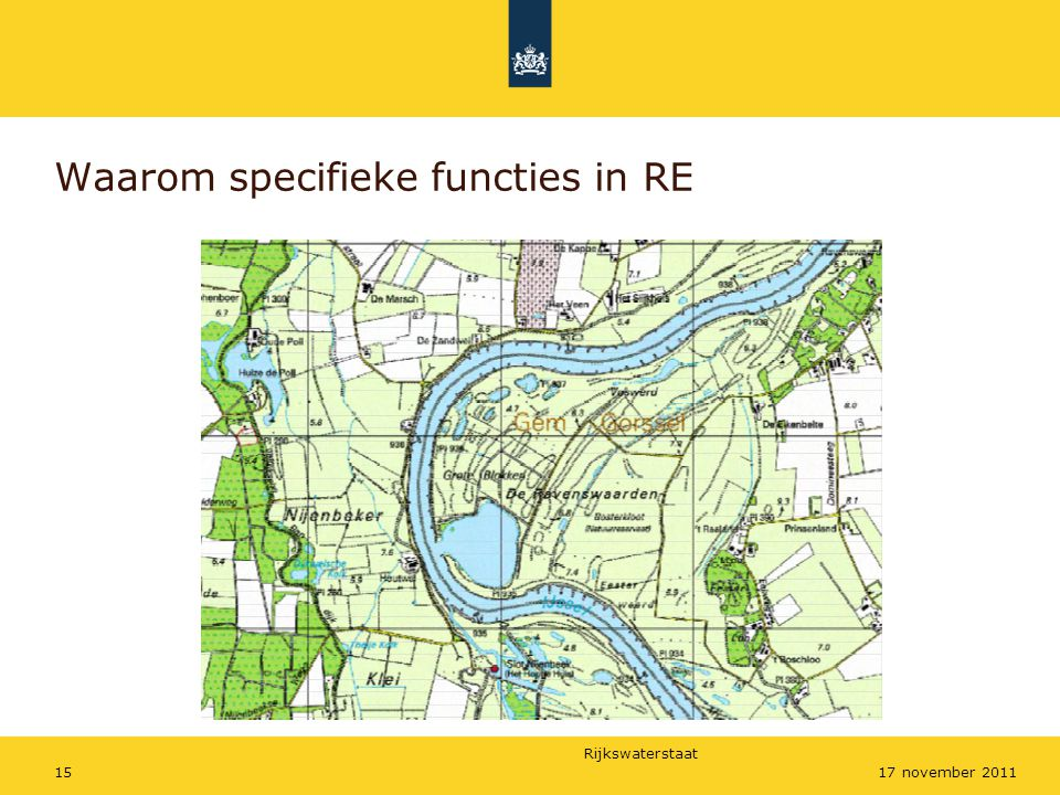 Waarom specifieke functies in RE