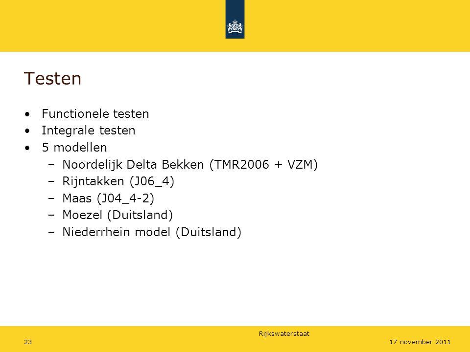 Testen Functionele testen Integrale testen 5 modellen