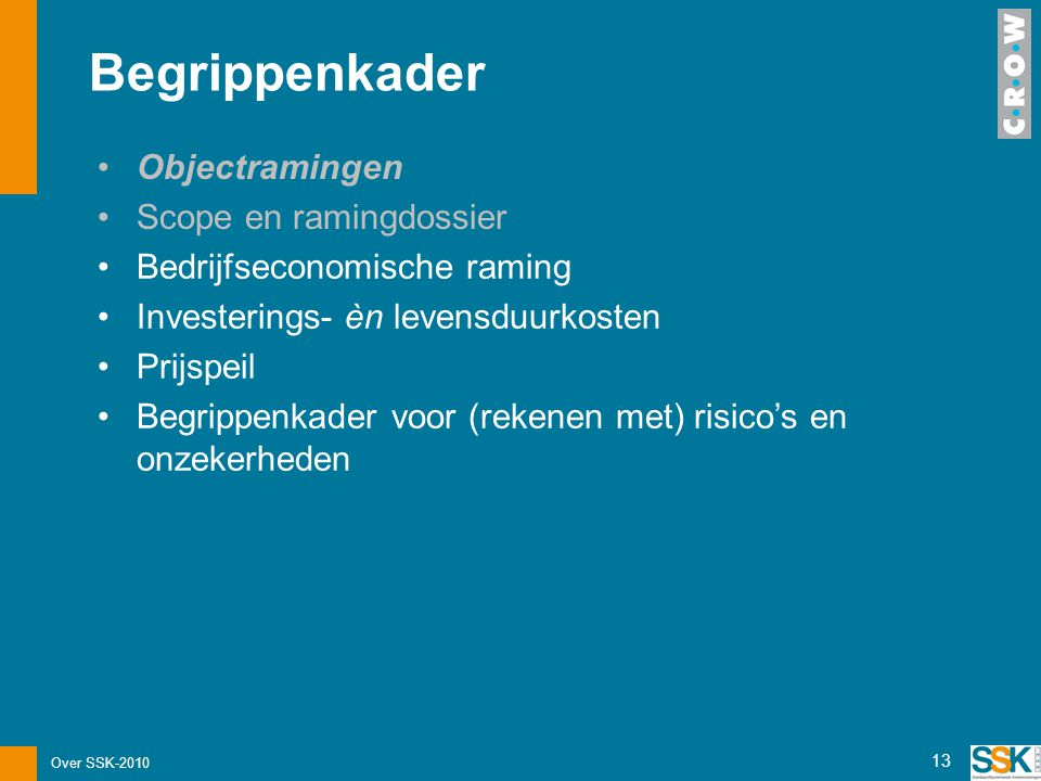 Begrippenkader Objectramingen Scope en ramingdossier