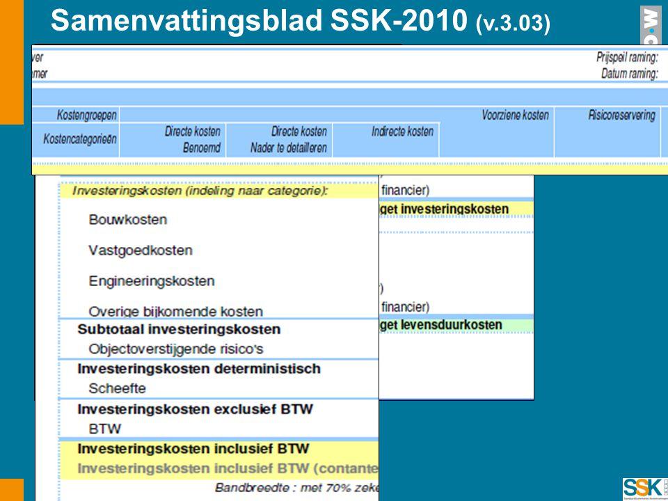 Samenvattingsblad SSK-2010 (v.3.03)
