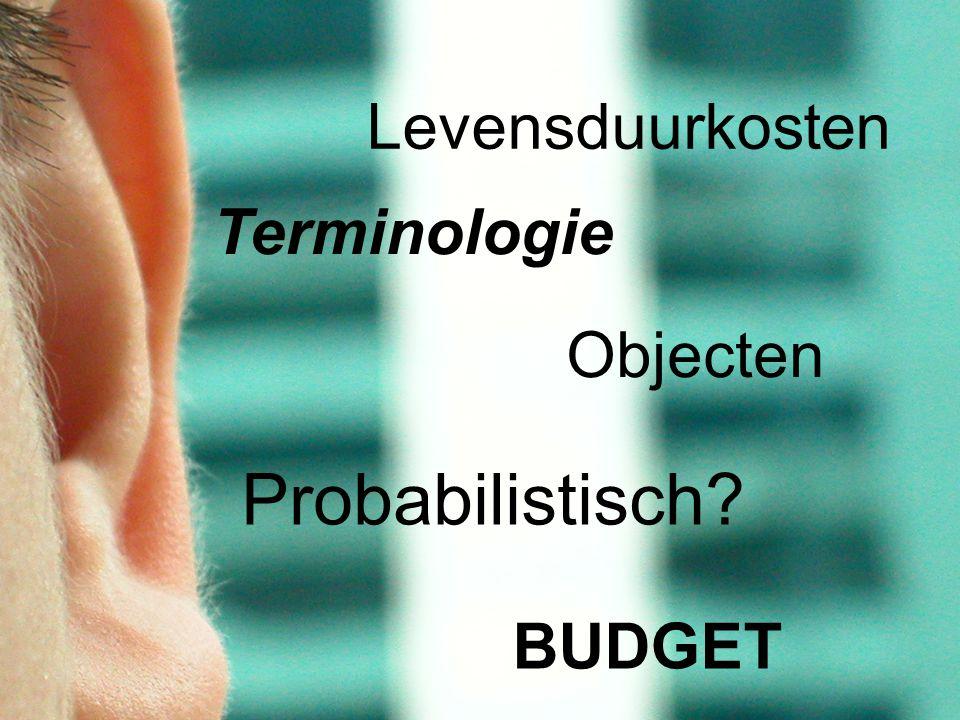 Probabilistisch Levensduurkosten Terminologie Objecten BUDGET
